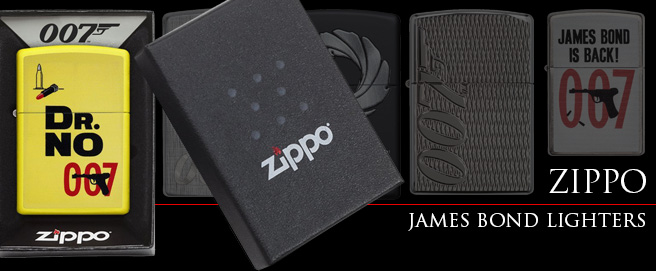 Zippo releases James Bond lighter line HP