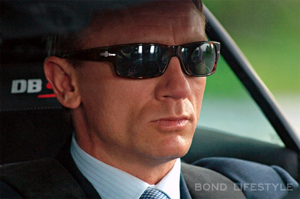 a88279fdf0801 Bond in his Aston Martin DBS wearing Persol 2720