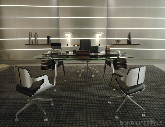 M S Desk With Two Interstuhl 101s Silver Chairs