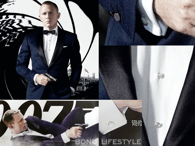 Tom ford mother of pearl cufflinks bond lifestyle for Stud sets tuxedo shirts