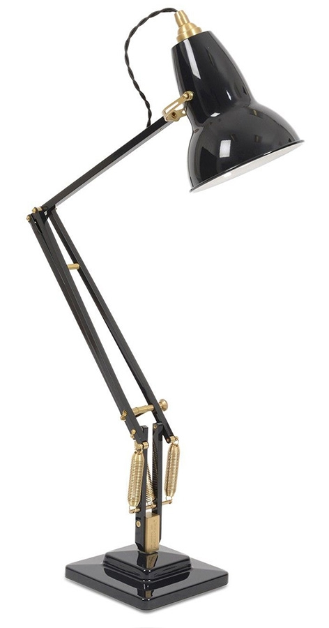 Anglepoise Original 1227 Desk Lamp, Deep Slate With Brass