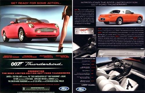 2003 Ford Thunderbird Limited Edition 007 Bond Lifestyle