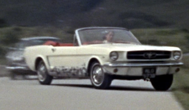 The Cream White Ford Mustang Convertible In Goldfinger