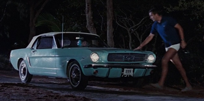 The Blue Ford Mustang Convertible In Thunderball
