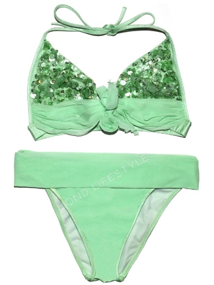 23d07d7e7fae7 La Perla Green Sequin Bikini