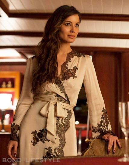 Berenice Marlohe Skyfall Dress Carine Gilson satin-silk robe