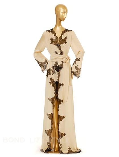 carine gilson satin silk robe bond lifestyle. Black Bedroom Furniture Sets. Home Design Ideas