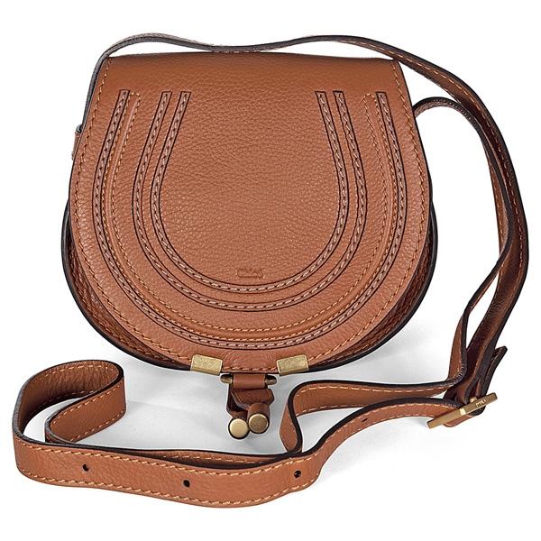 Chloé Marcie Small Saddle Bag tan leather 8d934fb590