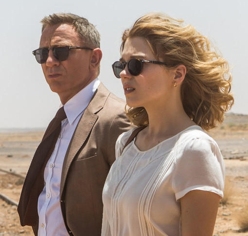 244e320601065 Madeleine Swann (played by Léa Seydoux) wears Persol PO3092SM Suprema 50  Petite Fit sunglasses in a promotional photo for SPECTRE