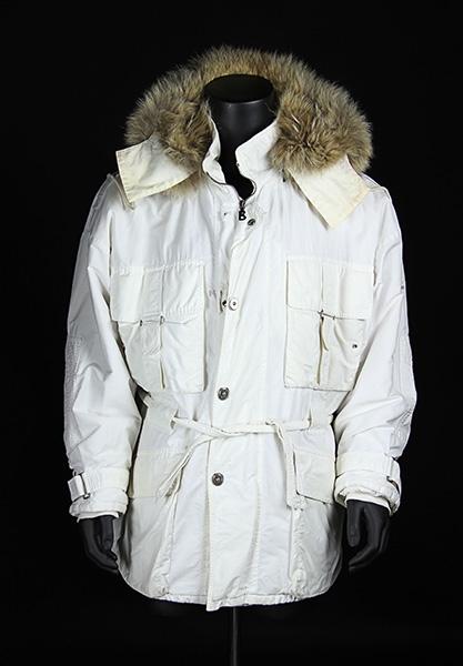 Bogner white jacket with fur hood 60555b1a5