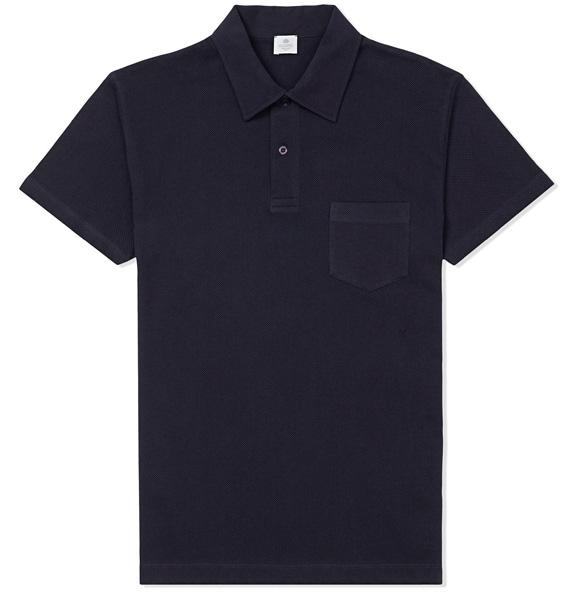 Sunspel Riviera Polo Navy polo shirt