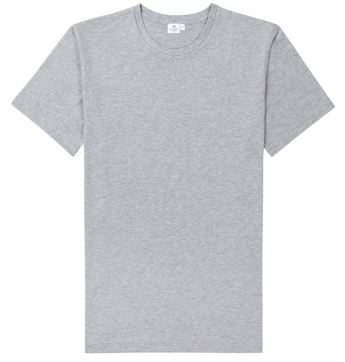 Sunspel Riviera Crew Neck T-Shirt Grey Melange