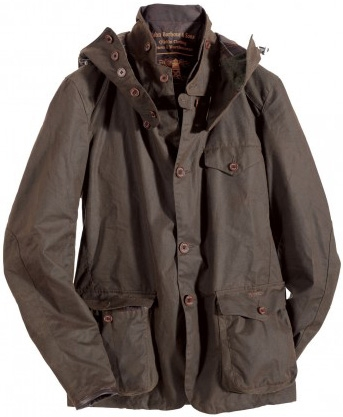 Barbour jacke im winter