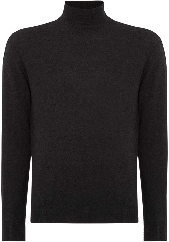 c3a079abfb9a4c N.Peal Fine Gauge Mock Turtle Neck sweater NPG-300 in Dark Charcoal Grey  and one in the color Lapis Blue.