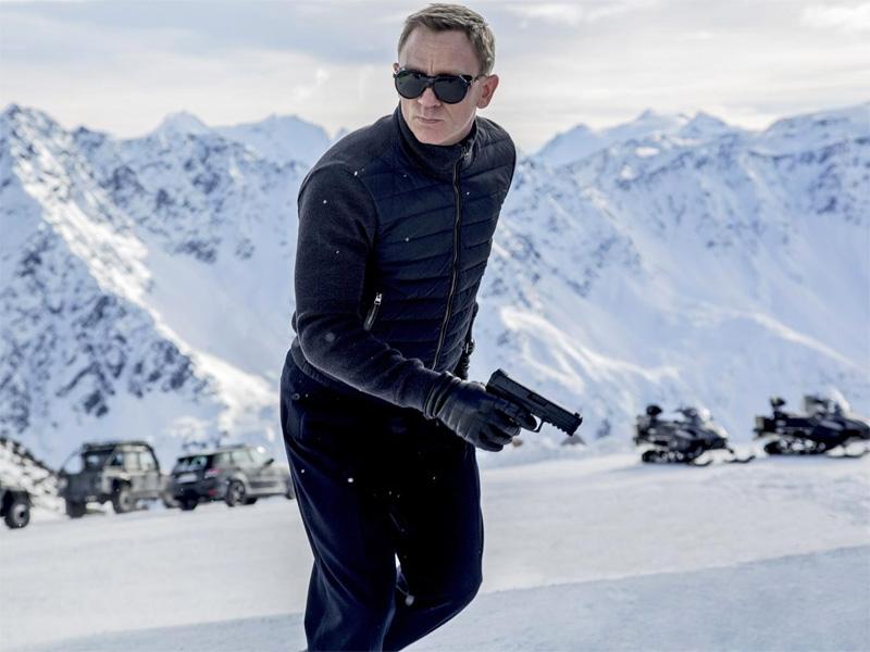 SPECTRE Knitted Sleeve James Bond Austria Mens Bomber Jacket