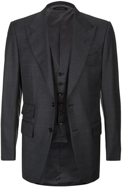 c6a75dd022d5 Tom Ford Windsor Three-Piece Suit in grey (in the movie the colour is black  herringbone)