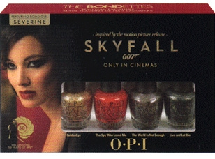 Opi James Bond Ettes Mini Set Golden Eye The Spy Who Loved Me World Is Not Enough Live And Let