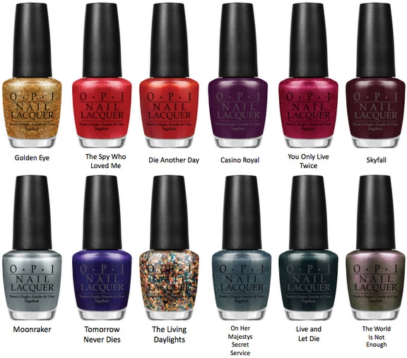 Opi Released Several New Colors Inspired By Bond Films