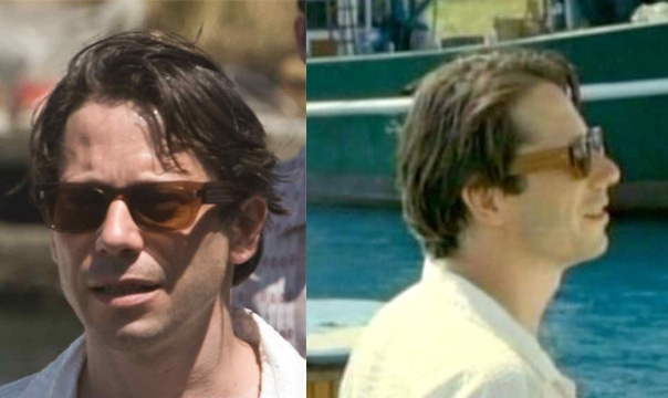 7a8177a6cc4d8 Mathieu Amalric wearing Cutler and Gross Vintage 0425 Black Stripe  sunglasses in Quantum of Solace