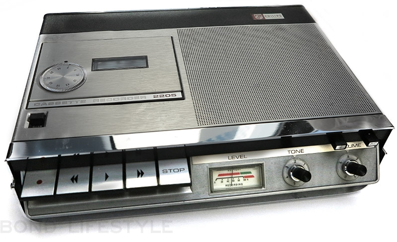 philips 2205 tape recorder and philips c90 tape bond lifestyle rh jamesbondlifestyle com Cassette to CD Converter Machine Old Cassette Recorder