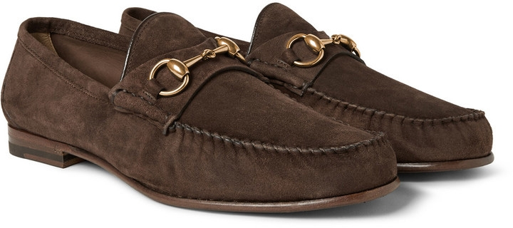 Gucci Horsebit Loafer Brown Suede