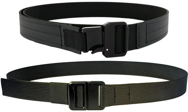 Carbon Tactics Epoch buckle with belt (top) and Carbon Tactics Quicky buckle with belt