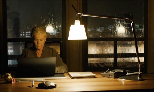 Artemide Tolomeo Basculante Tavolo table lamp on M's Desk in SkyFall