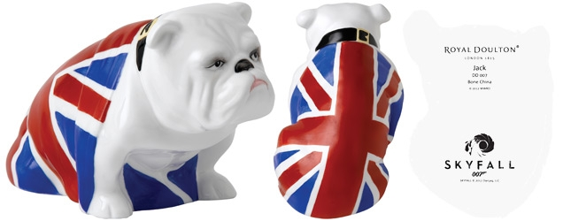 Royal Doulton Bulldogs Jack DD 007. This new edition of the classic bulldog statue has a limited edition 007 backstamp and specially printed box sleeve.