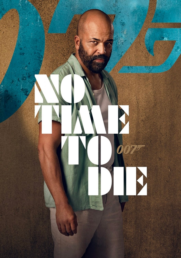 Jeffrey Wright as Felix Leiter wears the Beams Plus Colour Slub Yarn Vacation Shirt on the No Time To Die character poster