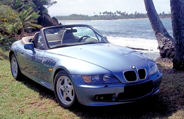 The BMW Z3, a pre-production model, used for the GoldenEye filming