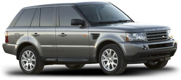 The grey Range Rover Sport is used by Bond in Bolivia.