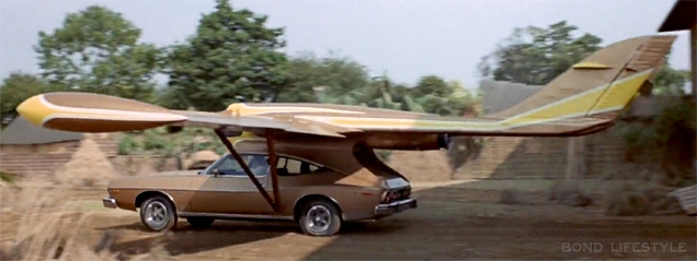 Scaramanga's AMC Matador coupe turns into an aircraft in The Man With The Golden Gun