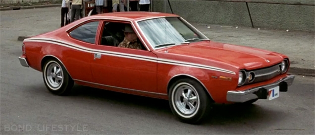 The AMC Hornet hatchback in action in The Man With The Golden Gun