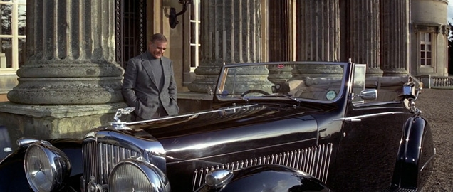 Bond admiring his 1937 Bentley 4¼ Litre Gurney Nutting 3-Position-Drophead Coupé, chassis number B129JY
