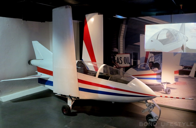"An Acrostar on display at the Bond In Motion exhibition in London. ""Fill her up, please!"""