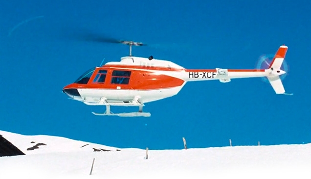 The first Bell 206 helicopter in a Bond film was an Agusta Bell 206B JetRanger that brings James Bond (disguised as Sir Hilary Bray) to the Piz Gloria mountain top hideout of Blofeld in On Her Majesty's Secret Service (1967).