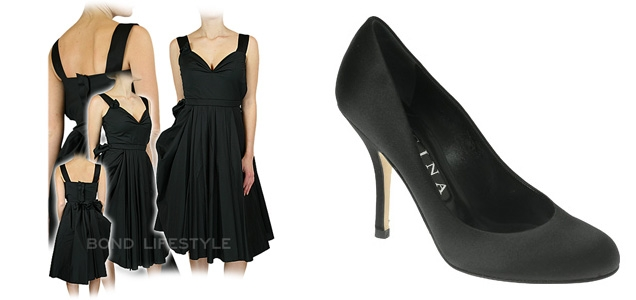 The Prada dress and Gina Paris shoes as worn by Olga Kurylenko in Quantum of Solace