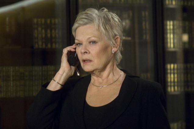 M (played by Judi Dench) wears a Georg Jensen Cascade Tear Necklace with Satellite in the movie Casino Royale (2006).