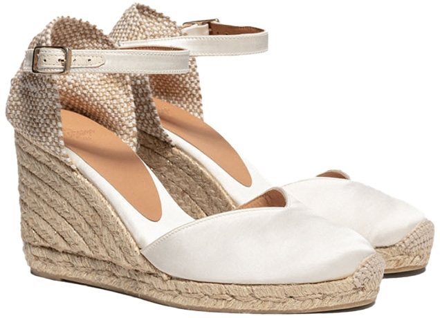 Castañer Chiarita Espadrille with wedge made of satin 9cm