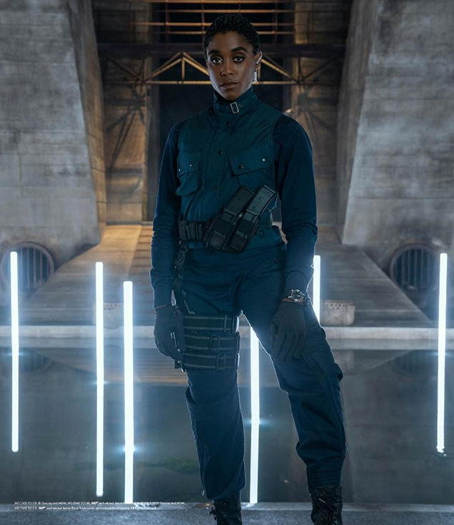 Lashana Lynch as Nomi with her commando outfit in No Time To Die