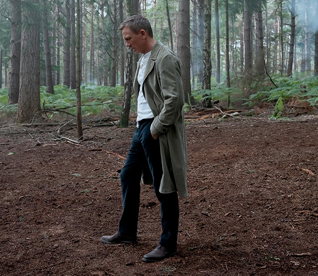 James Bond wearing Molton in Dark Brown Rough-out Suede