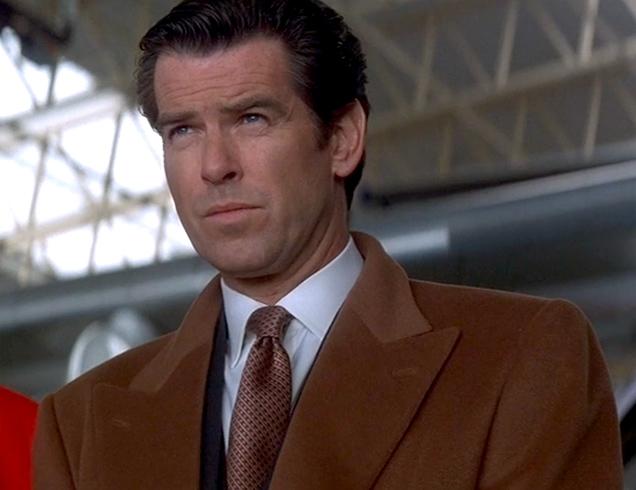 Pierce Brosnan as James Bond in Tomorrow Never Dies wearing the Turnbull & Asser necktie.