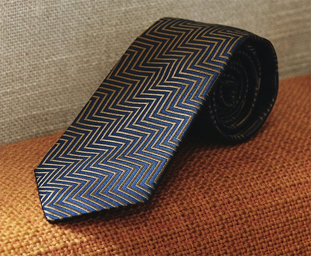 Turnbull & Asser The World Is Not Enough Zig Zag Tie as worn by James Bond