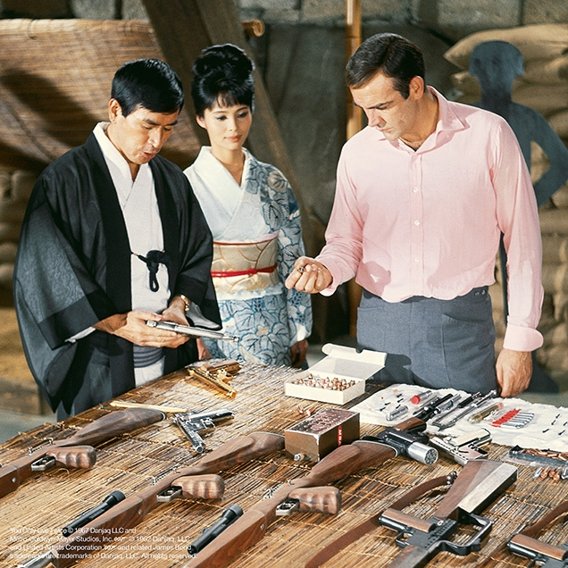 Tanaka, Aki and James Bond in You Only Live Twice