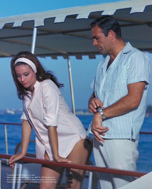 Domino (Claudine Auger) and James Bond (Sean Connery) in Thunderball