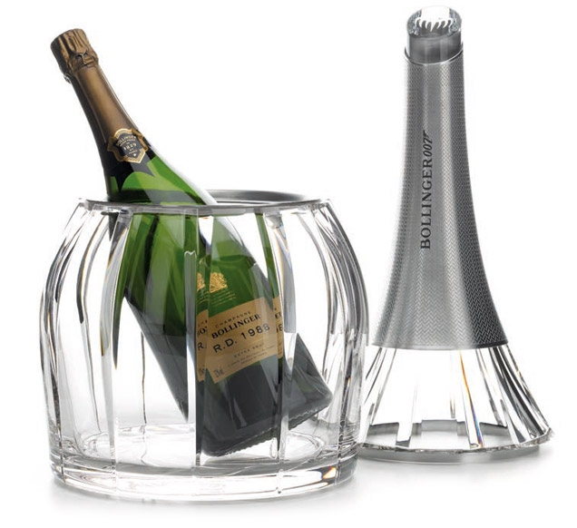 Bollinger SPECTRE 007 Limited Edition Crystal cooler with Bollinger R.D. 1988 Magnum bottle.
