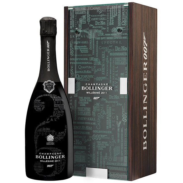 Bollinger 007 Limited Edition Millésimé 2011 celebrates 25 Bond films
