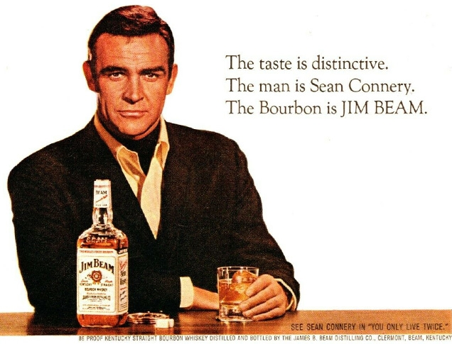 A 1967 Jim Beam ad with Sean Connery, also promoting You Only Live Twice