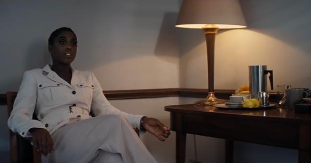 Lashana Lynch as Nomi in Moneypenny's office.