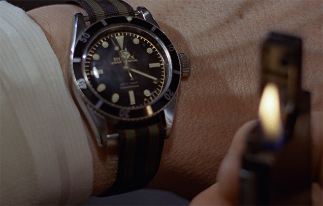 The Rolex Submariner worn by Sean Connery in Goldfinger